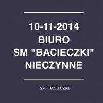 """Godziny pracy SM """"Bacieczki"""" 10.11.2014"""
