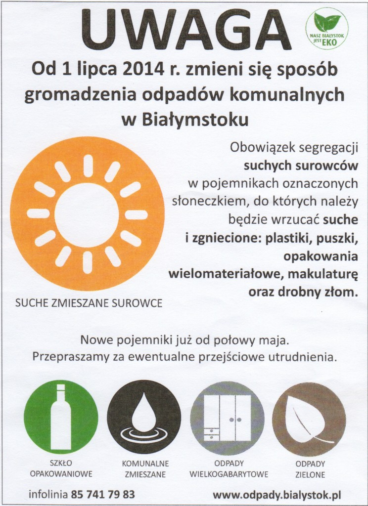 Nowy system gospodarki odpadami komunalnymi w Białymstoku
